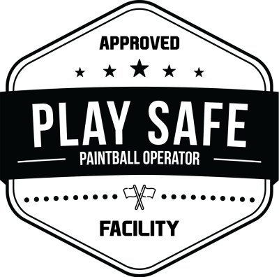 play safe logo black s